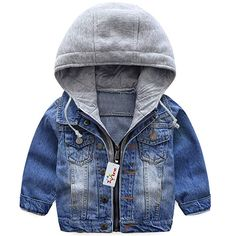 Cheap kids denim jacket, Buy Quality boys jean jacket directly from China children outerwear Suppliers: 2017 casual spring children clothing kids denim jacket hooded fake two piece baby boy jeans jackets and coats children outerwear Boys Denim Jacket, Denim Coat, Hooded Jean Jackets, Outerwear Jackets, Denim Jackets, Hooded Jacket, Hooded Coats, Casual Jackets, Trench Coats