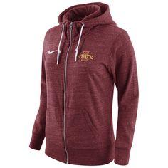 Women's Nike Cardinal Iowa State Cyclones Tailgate Gym Vintage Full-Zip Hoodie