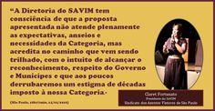 14/01/2016 - declaração do SAVIM, Claret Fortunato