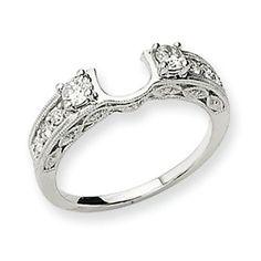 wedding band wraps | Home > JEWELRY > RINGS > 14k White Gold Diamond Wrap Ring