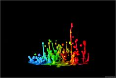 Sound generated shot.. Milk on a subwoofer, colored with food coloring..   Milky Music V by Pascal Bovet (http://500px.com/pascalbovet)
