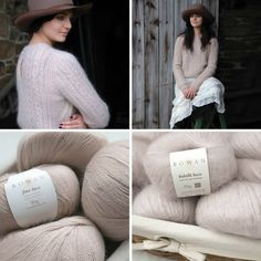 Craft by Kim Hargreaves featured in Rowan Fine Lace (Cameo) and Kidsilk Haze (Pearl) #hiddenpurls #knitting #yarn