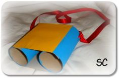 Toilet roll binoculars Preschool Arts And Crafts, Fun Crafts, Activities For Kids, Crafts For Kids, Artists For Kids, Art For Kids, Projects For Kids, Craft Projects, Craft Ideas