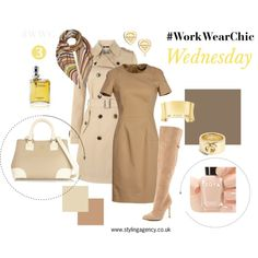 """The Styling Agency """"#WorkWearChic Wednesday"""" by thestylingagency on Polyvore  What to wear to work?  #WorkWear #workwear #GetTheLook #getthelook #sets #beige #brown #nudebags #nude #businesswear #fashionset #fashionbooks #fashionista #styleessential #camel"""