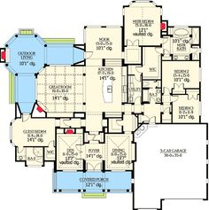 Popular Rambler with Unique Floorplan - 23224JD   Craftsman, Northwest, Luxury, Photo Gallery, Premium Collection, 1st Floor Master Suite, Butler Walk-in Pantry, CAD Available, Den-Office-Library-Study, In-Law Suite, PDF   Architectural Designs
