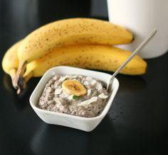 Banana Coconut-Cream Chia Pudding with Cardamom - gluten free