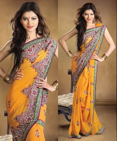Fetching Pure Georgette Saree