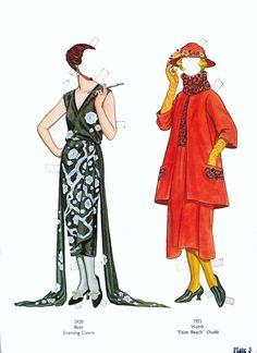 Great Fashion Designs of the Twenties Paper Dolls by Tom Tierney - Nagy Divattervezők 1920-as évek - Nena bonecas de papel - Picasa Web Albums