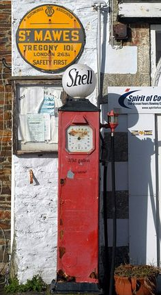 old English gas pump