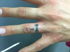 Bamboo Style Finger Tattoo
