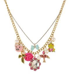 I just want to wear all Betsey Johnson jewelry all day, every day. $65