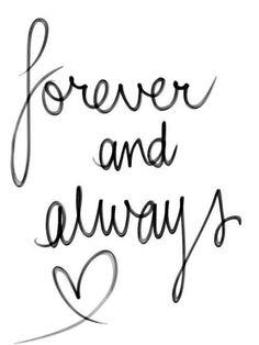 Per sempre e sempre ........
