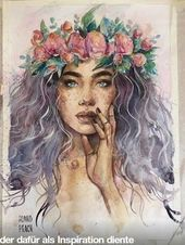 21 Must Known 2019 Tipps und Ideen für die Kunstmalerei - Painting Of Girl, Painting & Drawing, Painting Tips, Art Inspiration Drawing, Art Inspo, Watercolor Portraits, Watercolor Paintings, Art Paintings, Watercolour