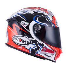 Design for Race Ducati, Sports Helmet, Racing Helmets, Helmet Design, Motogp, Motorbikes, Purple, Red Planet, Garage
