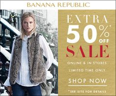 Banana Republic Canada Winter Sale: Save Extra 50% off Sale http://www.lavahotdeals.com/ca/cheap/banana-republic-canada-winter-sale-save-extra-50/154225?utm_source=pinterest&utm_medium=rss&utm_campaign=at_lavahotdeals