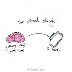The eternal struggle...