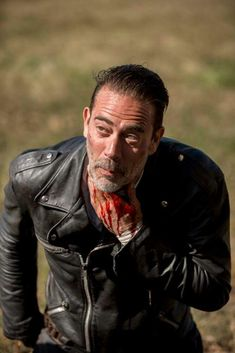 Negan (after Rick slit his throat) S8 E16 - TWD