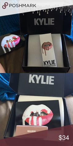 AUTHENTIC Kylie lip kit MALIBOO the liner has been swatched, comes with card. Also looking for brown sugar and candy k Makeup Lipstick
