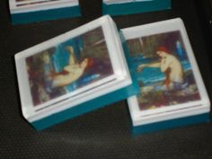 Custom ordered soaps with embedded images