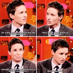 When he expressed his disappointment at never being cast in one of the Harry Potter films.   23 Times Eddie Redmayne Was A Gift We Didn't Deserve