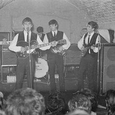 """""""I loved the Cavern. It was a claustrophobic hell, but it was a great one. ➿ ➿ Photo © Apple Corps Ltd. The Beatles 1960, The Beatles Live, Die Beatles, John Lennon Beatles, Great Bands, Cool Bands, Apple Corps, The Quarrymen, Thought Pictures"""