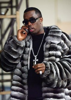 """OG Bad Boy Sean """"Puff Daddy"""" Combs turns 47 today, and as he celebrates we imagine he has few regrets. After all, he's a hip-hop mogul who has six beautiful children and lives a luxurious life full of flashy cars, plenty of bling, and… fur. Handsome Men Quotes, Handsome Arab Men, Fur Fashion, Mens Fashion, Fashion Outfits, Strong Woman Tattoos, Beautiful Women Quotes, Puff Daddy, Mens Fur"""