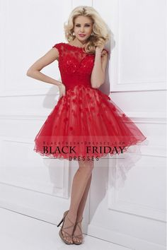 2014 Tulle Prom Dress Bateau Low Back A Line Short/Mini With Handmade Flowers