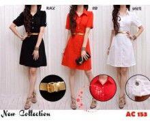 Jual dress wanita cantik murah AC153 pusat belanja online grosir terkini