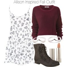 Allison Inspired Fall Outfit by veterization on Polyvore featuring Brandy Melville, Ilia, women's clothing, women's fashion, women, female, woman, misses and juniors