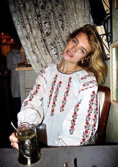 lavaleur: Natalia wearing her grandma's handmade blouse.