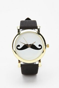 Mustache Watch... please, someone get me this for my birthday! or Christmas!