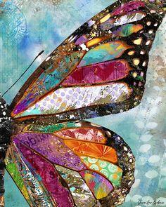 Woodland Butterfly Art Print | Etsy