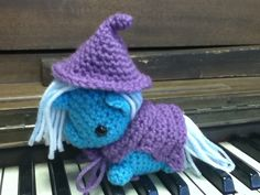 Trixie My Little Pony crocheted amigurumi plush. $40.00, via Etsy.