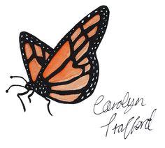 Butterfly By Carolyn Trafford highheelsbrownhair.blogspot.com