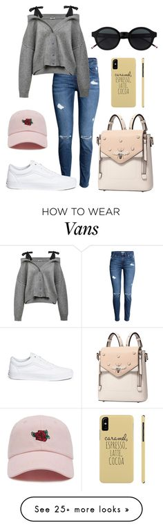 """StreetStyle"" by valentina-viola-1 on Polyvore featuring Vans, Forever 21, contestentry and nyfwstreetstyle"