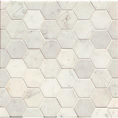 11 75 A Sheet Carrara Venato 3x3 Hexagon Marble Mosaic