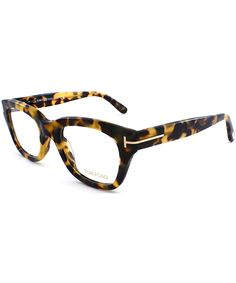 addba4cd0a Square Plastic Eyeglasses in Vintage Havana -  251 Tom Ford Eyewear