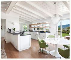 kitchen with open ceiling