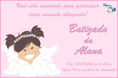 Convite Batizado menina