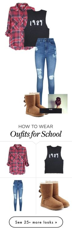 """""""School"""" by cassidycraig1 on Polyvore featuring Lipsy, UGG Australia and Victoria's Secret PINK"""