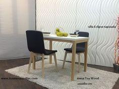 34194151ad23 Mesas extensibles para cocina y comedor Toy Wood de Cancio Vetas, estilo  nórdico, oferta precio madera