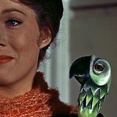 """David Tomlinson, who played Mr. Banks in the film, also provided the voice of Mary Poppins' parrot head umbrella. 