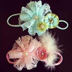 Vintage Lace Headband: with removable itsy flower clip...wear together or separate. Clip also helps headband stay in place! http://www.littlemissclippies.com/