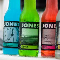 We love how Jones Soda adds a great pop of color to your wedding reception ... you can also order personalized bottles with your photos!