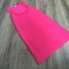 J. CREW PINK Ruffle Front Scoop Neck Tank Dress Excellent condition tank dress from J. Crew. Size small. Cute ruffle scoop neck. J. Crew Dresses
