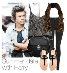 Summer date with Harry by style-with-one-direction on Polyvore featuring polyvore, fashion, style, Topshop, Zara, Ray-Ban, OneDirection, harrystyles and 1d