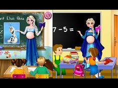 Pregnant Elsa Becomes School Teacher - Disney Frozen Games