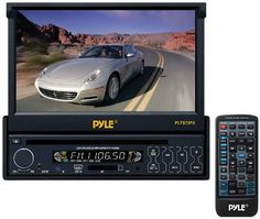 Pyle 7-Inch Single DIN In-Dash Motorized Touch Screen TFT/LCD Monitor with DVD/CD/MP3/MP4/USB/SD/AM-FM Player #deals