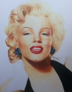 Marilyn Monroe by PortraitKate color pencil drawing / This image first pinned to Marilyn Monroe art board here: http://pinterest.com/fairbanksgrafix/marilyn-monroe-art/ #Art #MarilynMonroe