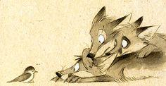 Я сейчас впервые шью лисичку тильда и решила поискать в интернете как же выглядит хвост у настоящей лисы, чтобы сшить своей подобный (ну вот не понятно мне, как могла Тони Финангер 'запроектировать' безхвостую лисичку??? Хвост ведь их изюминка!). А тут еще прочитала пост 'По лисьим следам' у Тони Андреевой:) И все. Просто заболела иллюстрациями немецкой художницы Skia!